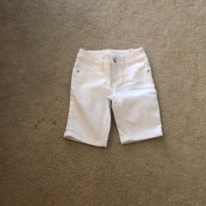 White justice girls shorts
